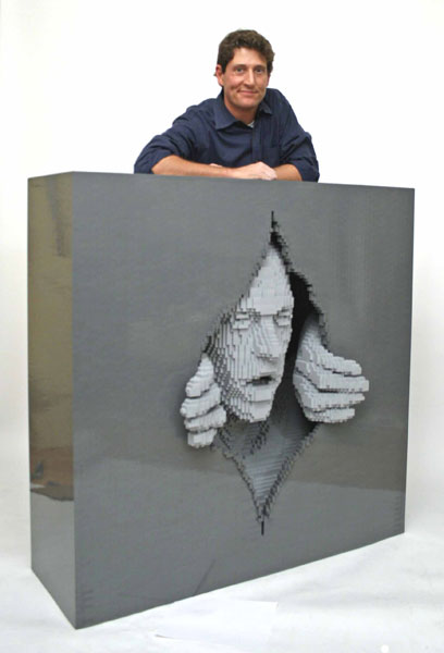 Incredible-LEGO-Art-by-Nathan-Sawaya-Gray
