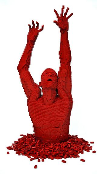 Incredible-LEGO-Art-by-Nathan-Sawaya-Red